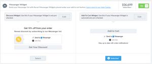 Messenger 'Add-to-Cart' optin widgets
