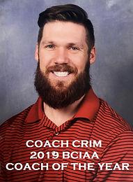 Coach Crim - 2019 BCIAA Coach of The Year