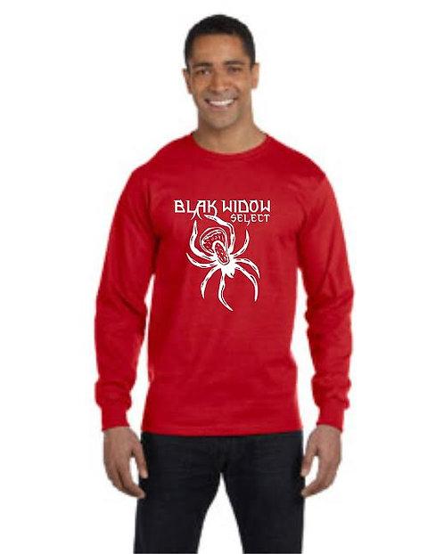 Gildan Long-Sleeve T-Shirt DryBlend - Red