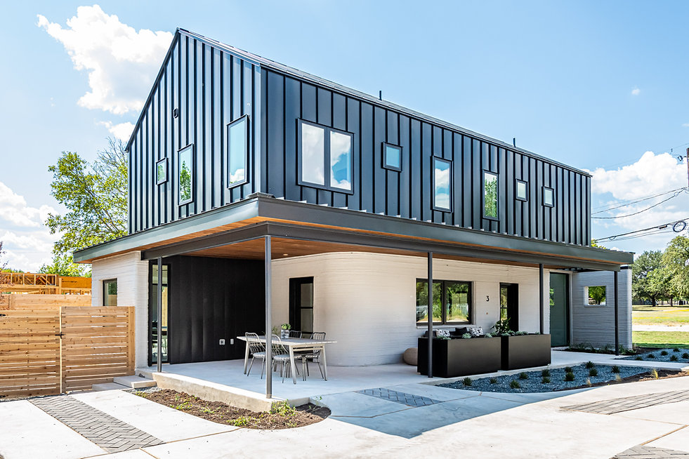 3_3Strands_ICON_FirstMainstream_3D-printed_Homes_Sold_In_America_Aug2021_Unit 3 Exterior 1