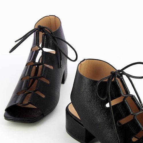 Sandales à lacets noires SD2244 - Vanessa WU