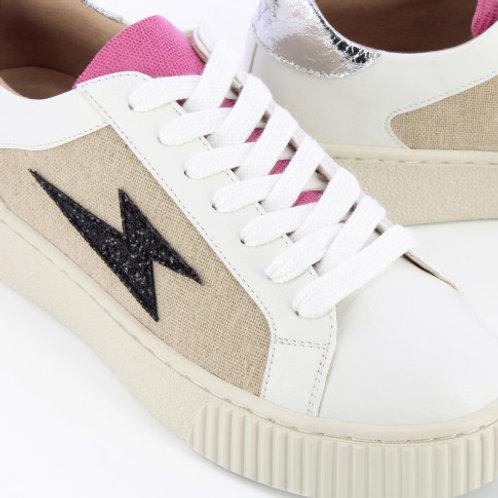Baskets éclair tweed à lacets BK2265 -Vanessa WU