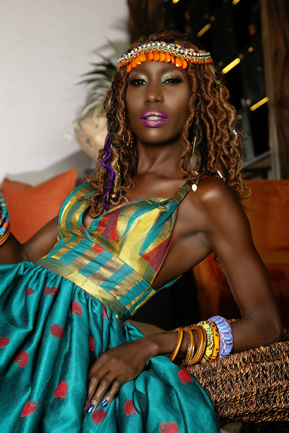 Liz Ogumbo Fashion | Models: Liz Ogumbo | Make-up: Zakiyya Bham | Epicure Restaurant Cigar Lounge