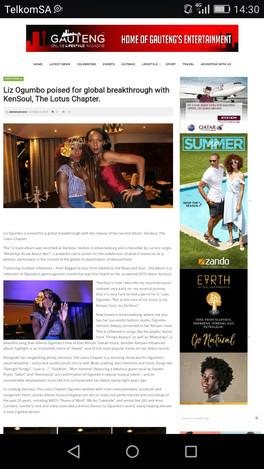 Liz Ogumbo  interview - Gauteng Lifestyle Online Magazine