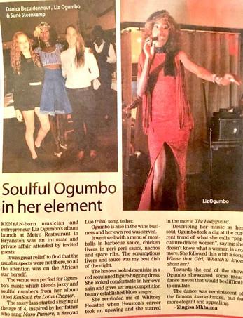Liz Ogumbo interview - The Sunday Independent