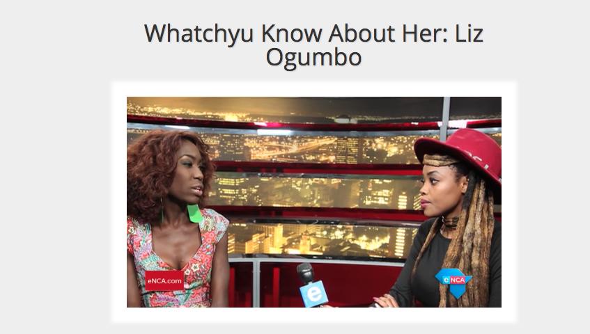 Liz Ogumbo Interview ENCA