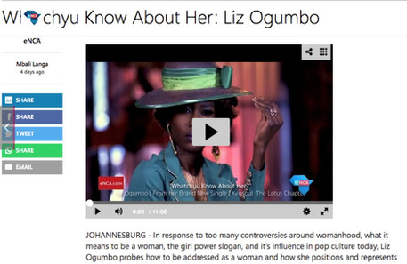 Liz Ogumbo ENCA interview