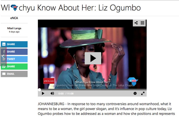 Liz Ogumbo ENCA interview
