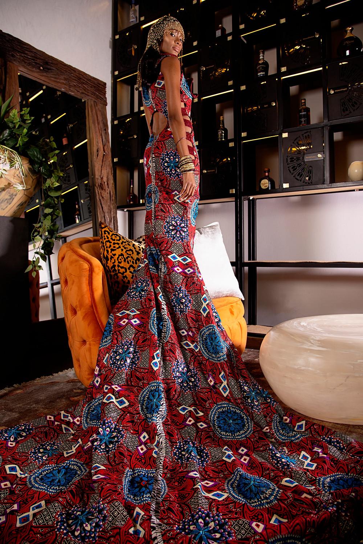 Model: Kathleen Kgorodeira   Make-Up: Zakiyya Bham   Liz Ogumbo Fashion   Epicure Restauant