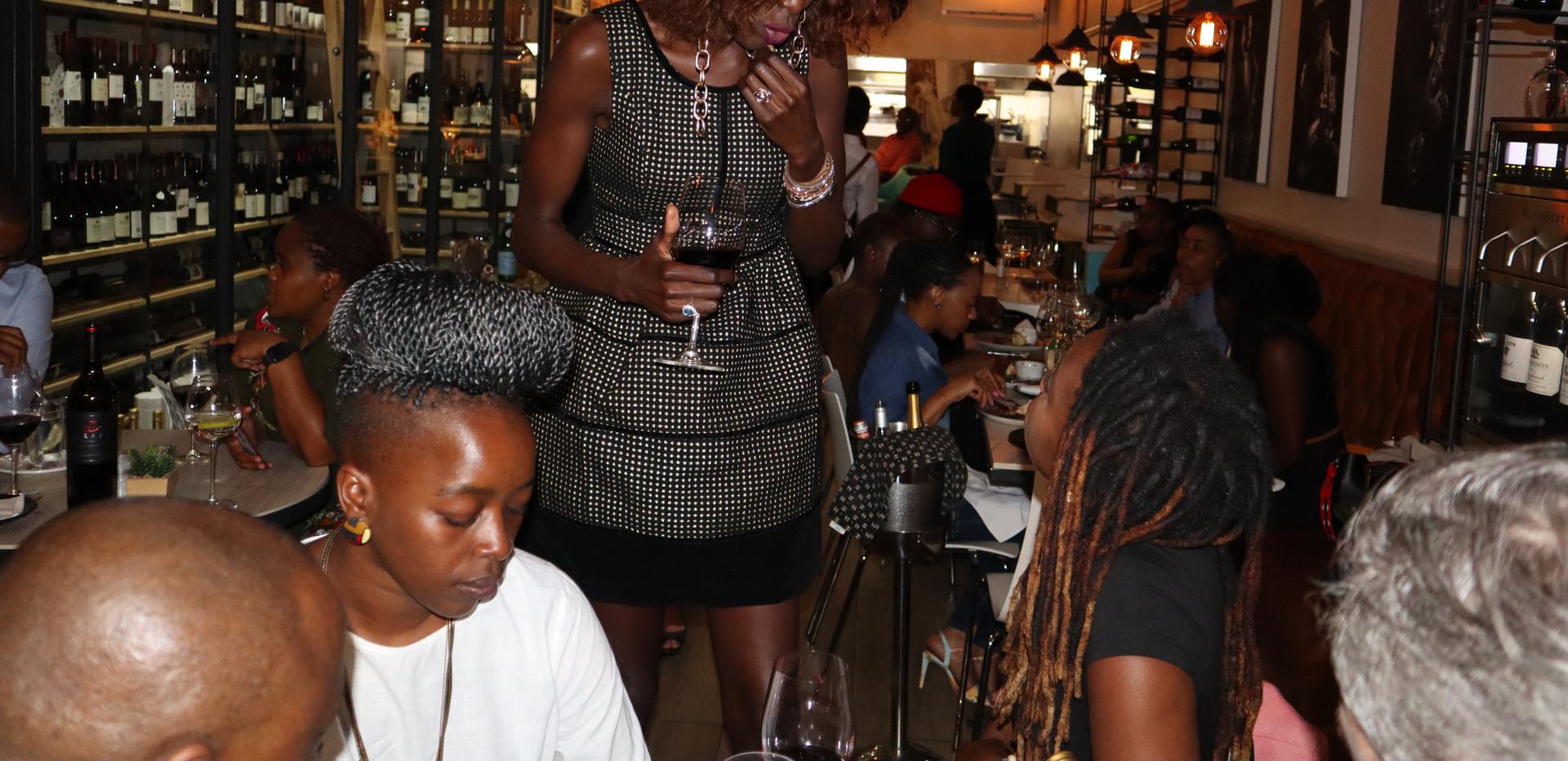 Liz Ogumbo Wine Tasting- Le Wine Chambre