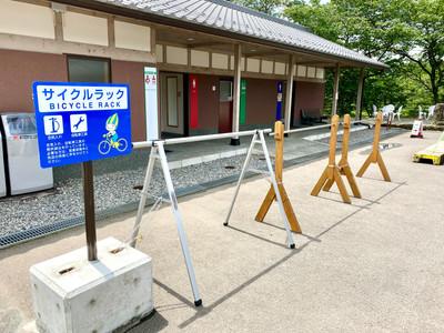 道の駅サイクルラック.JPG