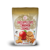 Baked Aple Crumble Chips with Honey Fron