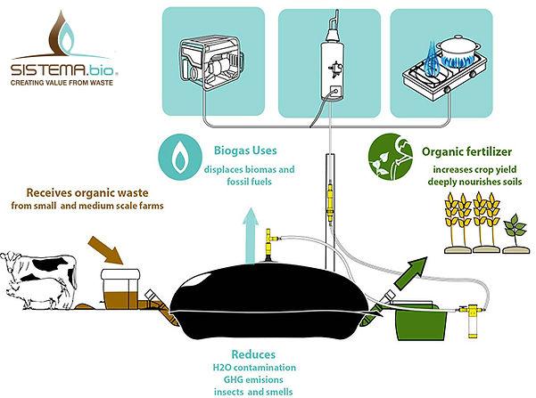 Sistema biobolsa - biodigester - I FEED GOOD