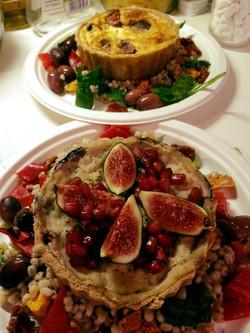Vegan fig tart
