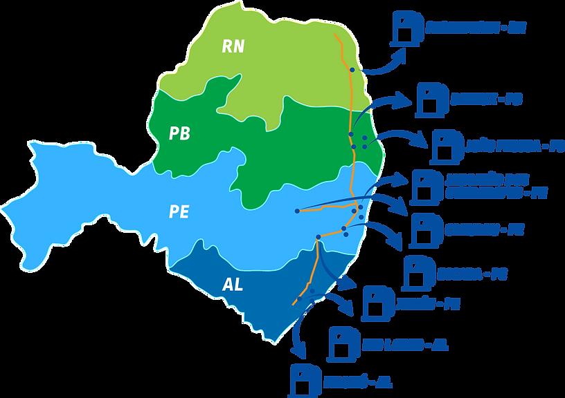Mapa da Rota Pichilai