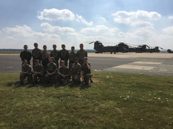Cadets with a Chinook