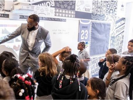 Parent On The Run Lebron James Opens School!
