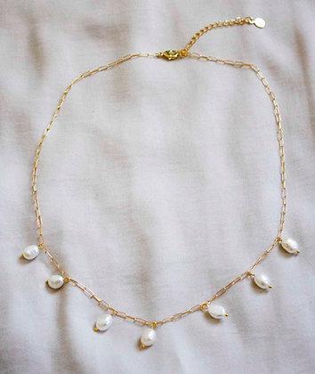 Paris Pearl Drop Necklace