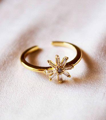Samara Crystal Ring - In Gold