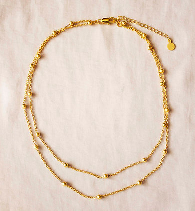 Paisley Double Chain Necklace