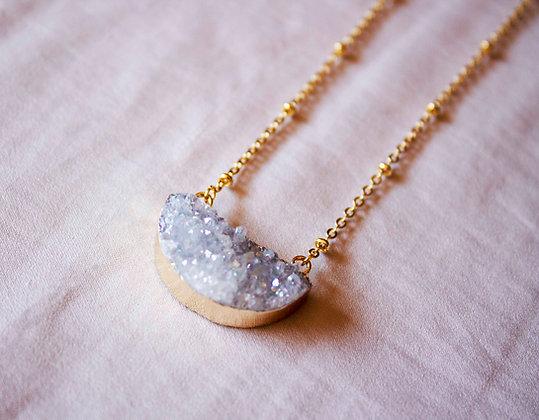 Astrid Druzy Necklace - In White