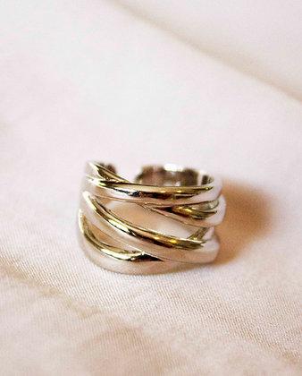 Natalia Silver Layered Ring