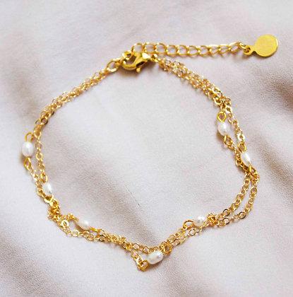 Evangeline Pearl Layer Bracelet