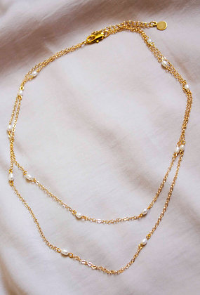 Evangeline Pearl Layer Necklace