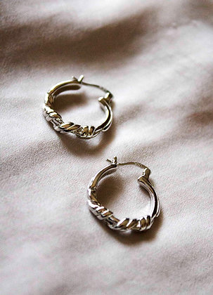 Evelyn Silver Hoops