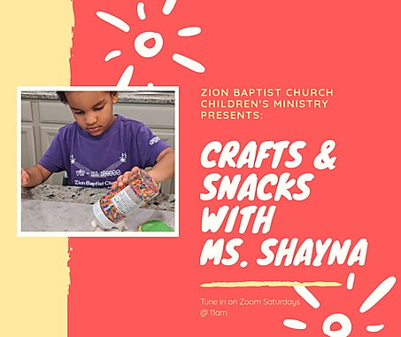 Crafts & Snacks with Ms. Shayna