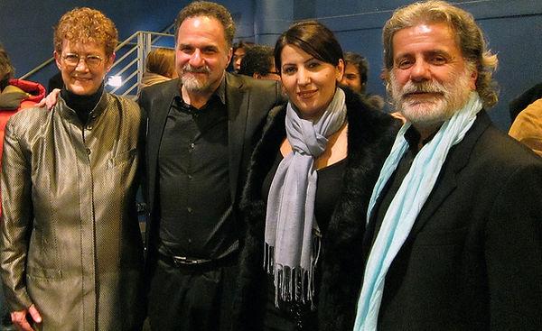 Laurine Celeste Fox, David Krakauer, Karine Hovhanissyan, and Marcel Khalife after the World Music Concerto Premieres