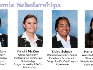 Academic Scholarships & Sports Representatives 2018