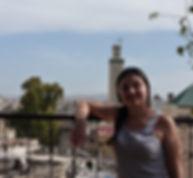 photographie de Moélie Roveri lors d'un voyage