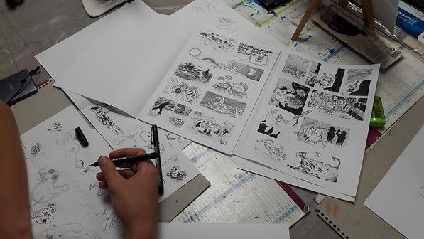 stages dessin manga BD