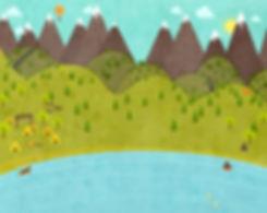 campo de dibujos animados