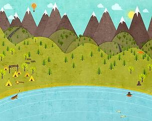 desenhos animados acampamento