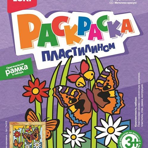 67-040 Раскраска пластилином Бабочки-красавицы