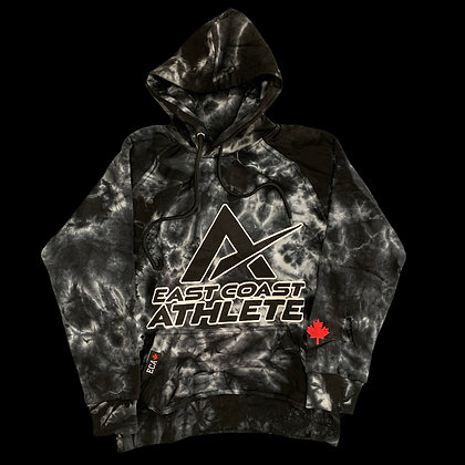 Youth Black and White Tie dye Hoodie