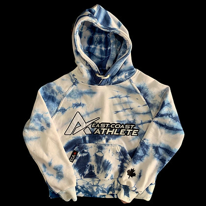 Youth Blue and Whit Tie dye Hoodie