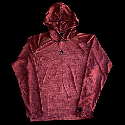Heather Red Dry Fit Thin Performance Hoodie