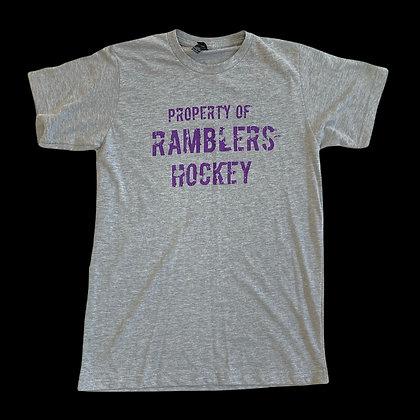 Property of Ramblers Hockey Tee