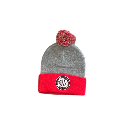 Heather Grey and Red #Hky #Szn Toque