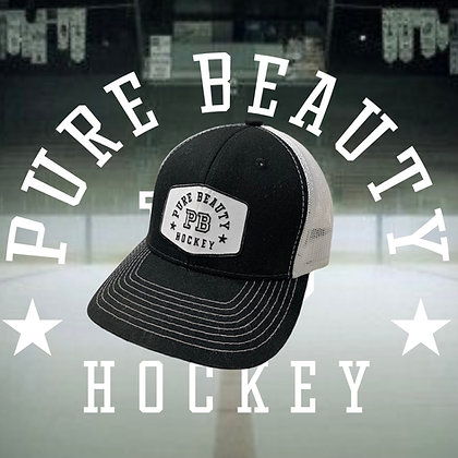 Pure Beauty Black and White Trucker