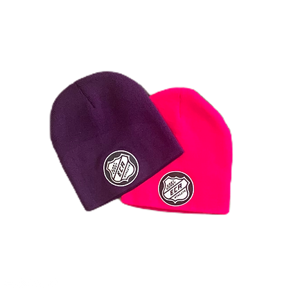 Purple and Pink #Hky #Szn Toque