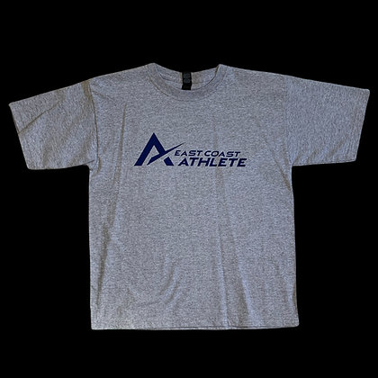 Youth Heather Grey Tee with Blue Logo