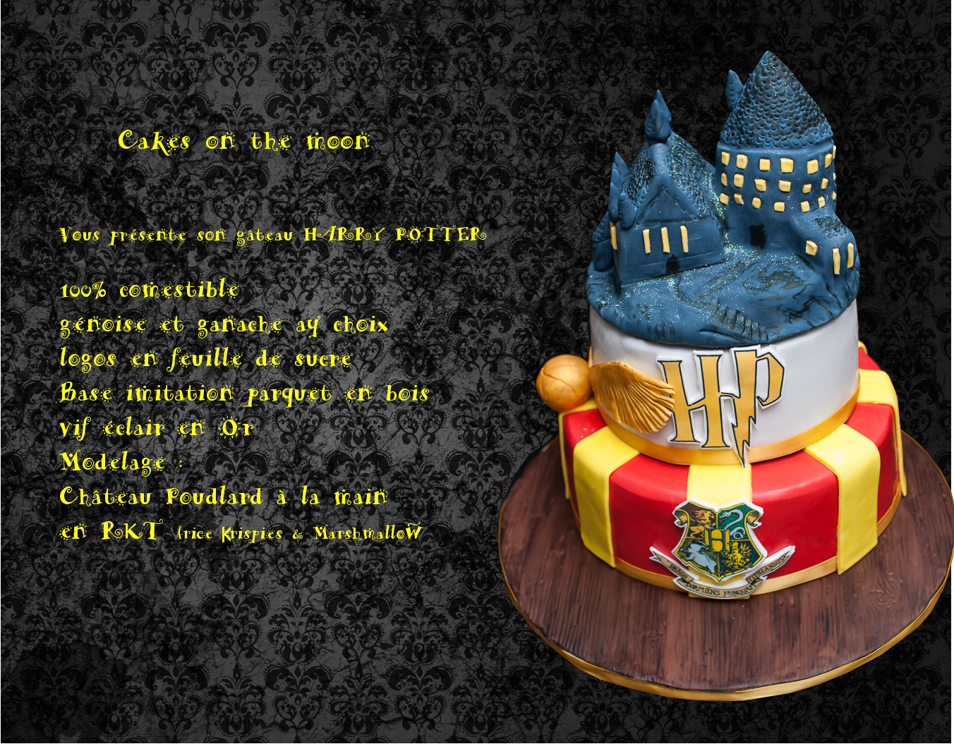 Notre Gateau Harry Potter Cakes On The Moon Cake Designer Lille Nord