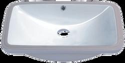 Large Rectangle Porcelain Undermount Sink