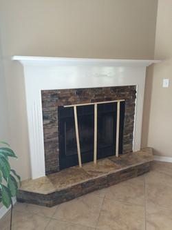 Fireplace Slate and Traverine