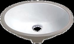 Medium Porcelain Undermount Sink
