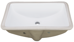 Rectangle Porcelain Undermount Sink